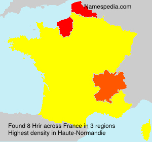 Surname Hrir in France