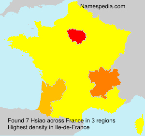 Surname Hsiao in France