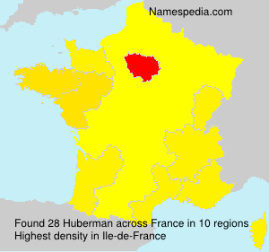 Surname Huberman in France