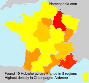 Surname Hubiche in France