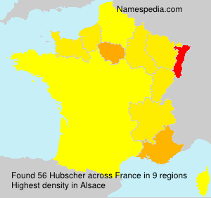 Surname Hubscher in France