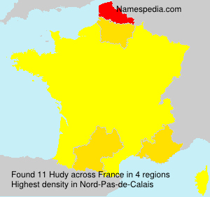 Surname Hudy in France