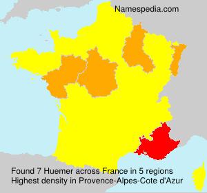 Surname Huemer in France