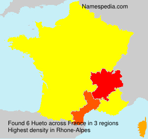 Surname Hueto in France