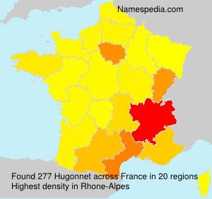 Surname Hugonnet in France