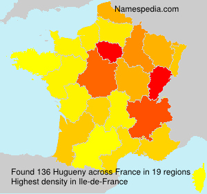 Surname Hugueny in France