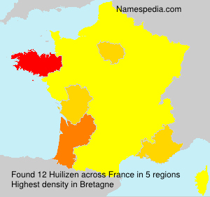 Surname Huilizen in France