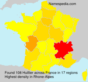 Surname Huillier in France