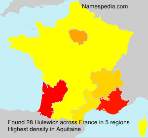 Surname Hulewicz in France