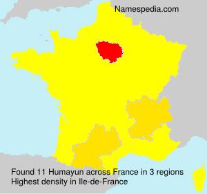 Familiennamen Humayun - France