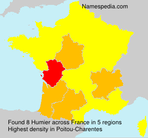Surname Humier in France
