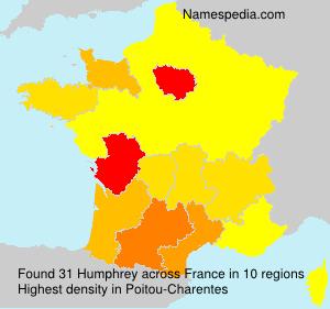 Familiennamen Humphrey - France