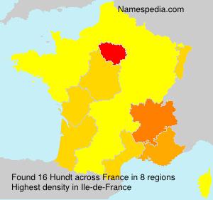 Surname Hundt in France