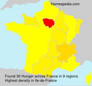 Surname Hunger in France