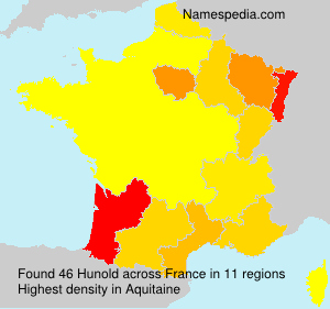 Surname Hunold in France