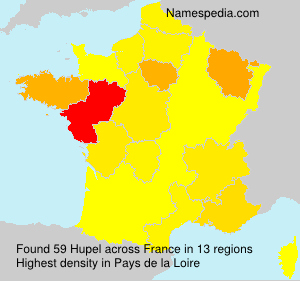 Surname Hupel in France
