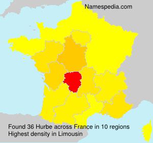 Familiennamen Hurbe - France