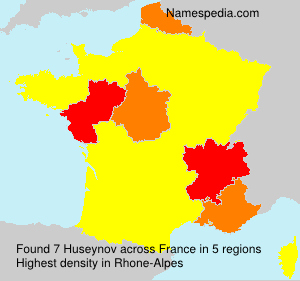 Surname Huseynov in France