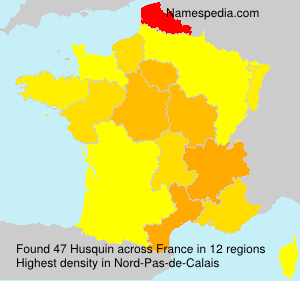 Surname Husquin in France