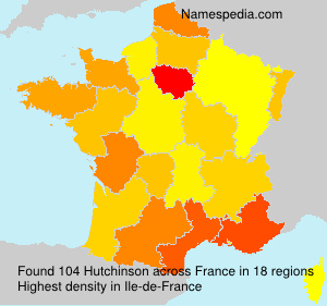 Surname Hutchinson in France