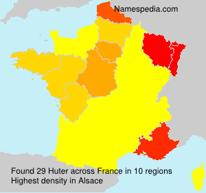 Surname Huter in France