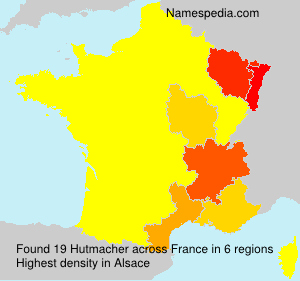 Surname Hutmacher in France