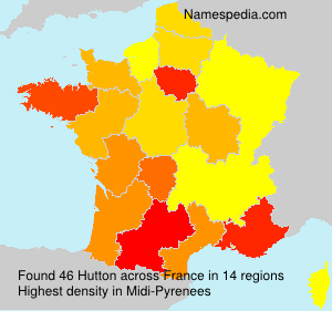 Surname Hutton in France
