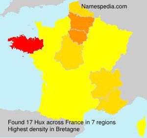Familiennamen Hux - France
