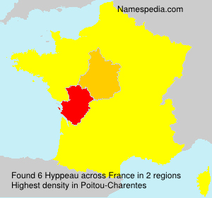 Surname Hyppeau in France