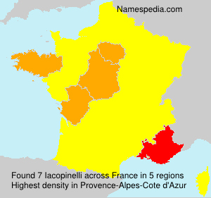 Surname Iacopinelli in France