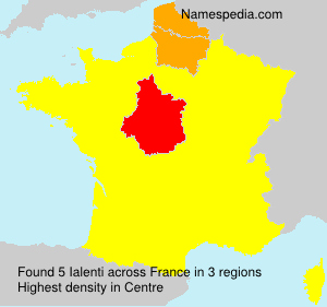 Surname Ialenti in France