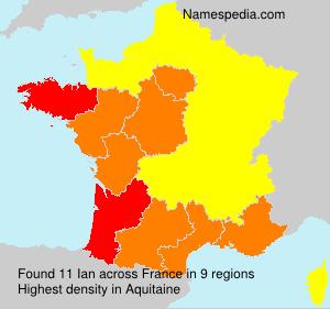Familiennamen Ian - France