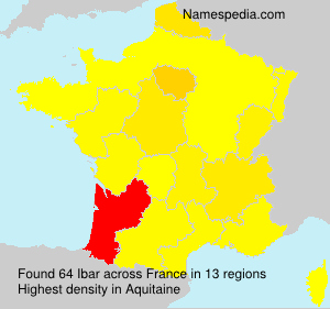 Surname Ibar in France