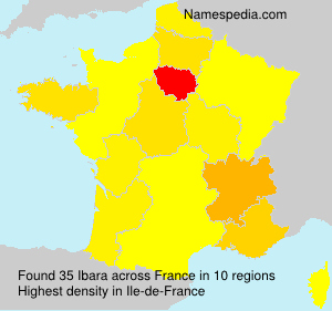 Surname Ibara in France