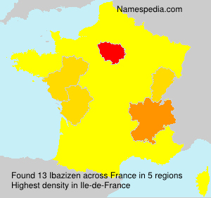 Surname Ibazizen in France