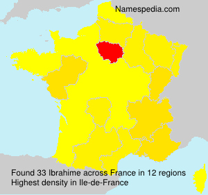 Surname Ibrahime in France