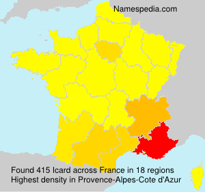 Surname Icard in France