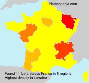 Surname Iceta in France