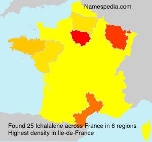 Surname Ichalalene in France