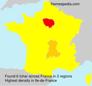 Surname Ichar in France