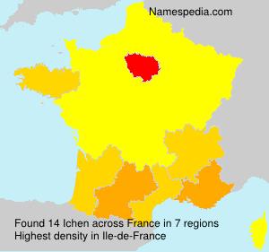 Surname Ichen in France