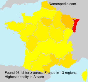 Surname Ichtertz in France