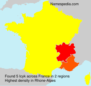 Surname Icyk in France