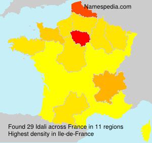 Surname Idali in France