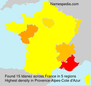 Familiennamen Idanez - France