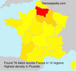 Surname Idelot in France