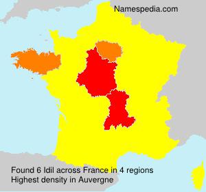 Surname Idil in France