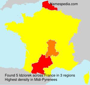 Familiennamen Idziorek - France