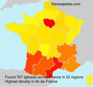 Surname Iglesias in France