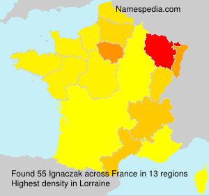 Familiennamen Ignaczak - France